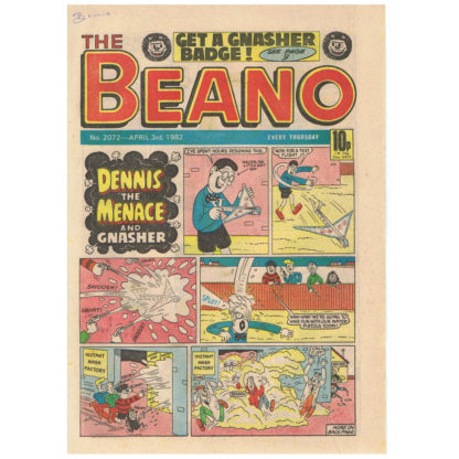 The Beano - 3rd April 1982 - issue 2072