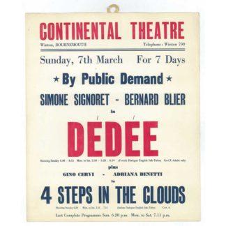 Continental Cinema poster - Winton - 1948 - Dedee