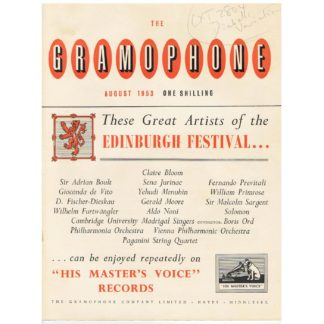 The Gramophone - August 1953