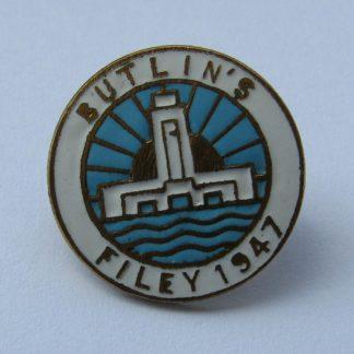 Butlin's Pin Badge - Filey - 1947