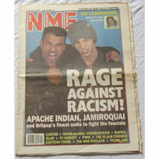 NME 16th October 1993 - Jamiroquai, Apache Indian