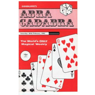 20th February 1982 - Goodliffe's Abracadabra
