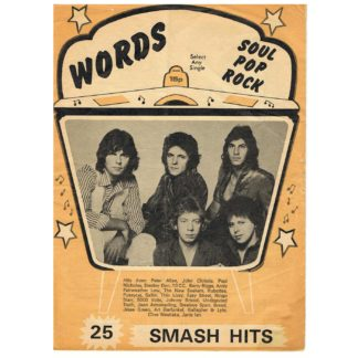 February 1977 - Words, Record Song Book