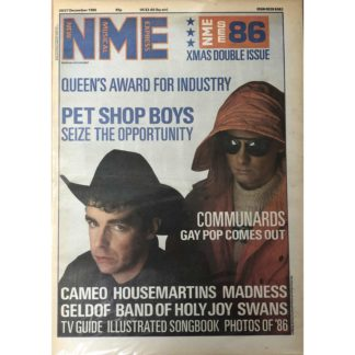 20th December 1986 - NME (New Musical Express)