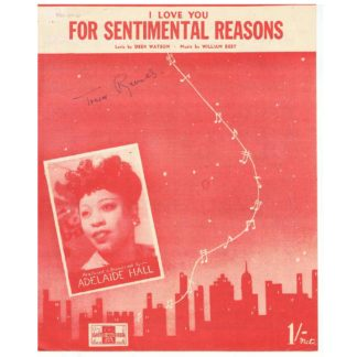 (I Love You) For Sentimental Reasons - sheet music
