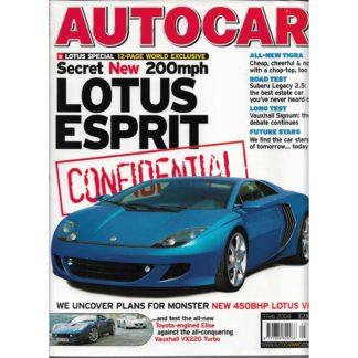 Autocar magazine - 3rd February 2004