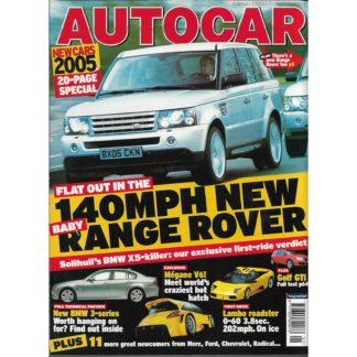 Autocar magazine - 4th January 2005