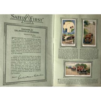 """1930's Cigarette Cards - """"Safety First"""", an Album of National Importance!"""