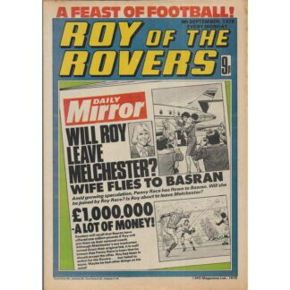 9th September 1978 - Roy Of The Rovers