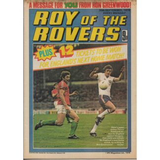 30th September 1978 - Roy Of The Rovers