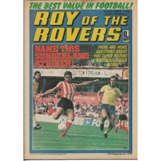 7th October 1978 - Roy Of The Rovers