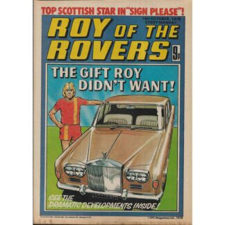 14th October 1978 - Roy Of The Rovers