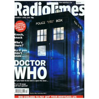 26th March 2005 - Radio Times - Dr Who - The Tardis